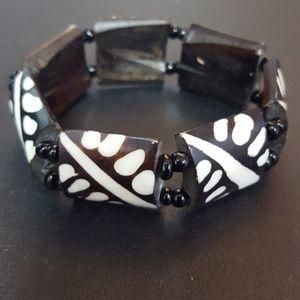 Wood Tribal Bracelet